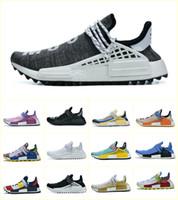Дешево 2020 NMD Pharrell Williams Solar Pack Mother BBC Mens Womens Человеческая раса бегущая спортивная обувь Бледно обнаженная Nerd Cream Стилистские кроссовки
