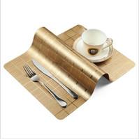 레스토랑 방수 웨스턴 Placemats 4 야외 테이블에 대 한 내열성 플레이스 매트 설정 야외 야외 빨 래 PVC 주방 매트