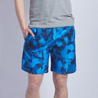 CHAMSGEND men' s casual printed beach pocket shorts quic...