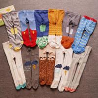 New Baby meia-calça meninos / menina de Algodão Pura Meia-calça Bonito da mola / outono Meias das Crianças 0-3 anos Da Criança Calças Justas Beikinyuans