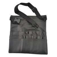 Makeup Brush Holder suporte 22 Pockets Strap Black Belt cintura Bag Salon maquilhador Escova Organizador ferramenta saco