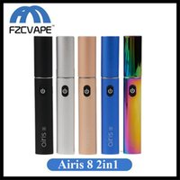 100% originale Airis 8 Wax Vaporizer Dabber e Dip 2in1 Vape Pen 400mAh Voltaggio variabile 3.4V-4.2V Starter Kit Authentic Airistech