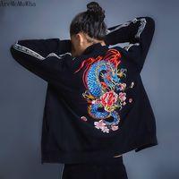 Giacche da uomo AremomuwhaWha stile cinese ricamo peonia drago abito sportivo giacca sportswear maglioni verticali Trend TrendleNECK QX1432