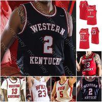 Costumbre occidental de Kentucky Baloncesto Jersey Hilltoppers NCAA Taveion Hollingsworth Bassey Carson Williams salvaje Anderson Lee Justicia
