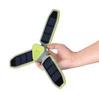 Outdoor-Compact Solar-LED-Camping-Zelt Laterne Taschenlampe 18LED 100lm Akku ideal für Camping, Wandern, Trekking