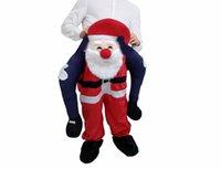 Papai Noel carrega-me trajes de mascote passeio na festa engraçada Natal Dia das Bruxas Piggy Vestido Adulto Tamanho