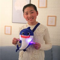 Baby Shark Shoulder Bag With Light Plush Toys Corssbody Bag ...