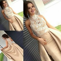 2019 New Sexy Long Evening Dresses Wear High Neck Sleeveless...