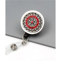 20pcs / beaucoup nouvelle mode métallique strass rouge / bleu 3 styles porte-badge Badge ID Carte Reel