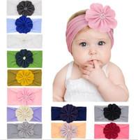 Мульти цвета девочка нейлон цветок оголовье мода мягкие конфеты цвет Богемия лук девушка детские аксессуары для волос оголовье