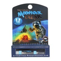 Moonrock Clear Vape Carts Cartucce 1.0ml Tank 510 thread Ceramic Coil G5 Thick Oil Atomizzatore Moon Rock Vaporizzatore 7 Flavor Sticker