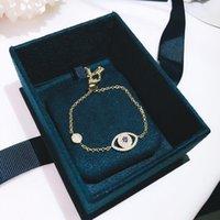925 스털링 실버 이블 아이 팔찌 팔찌 Blue Eye Designer Bracelets 여성용 럭셔리 뱀 체인 보석 상자