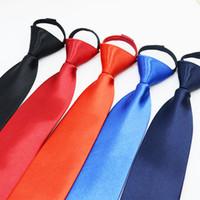 الرقبة سستة التعادل 45 * 5CM 40 الألوان الصلبة كسلان ربطة العنق للرجال حفل زفاف الأب هدية مجانية يوم عيد الميلاد TNT فيديكس