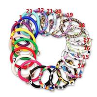 Pu 가죽 팔찌 라운드 술 키 버클 팔찌 패션 친환경 팔찌 인기있는 새로운 패턴 다른 색상 8 5by J1