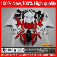 Body For YAMAHA YZF600 red white hot YZF R6 YZF- R6 2008 2016...