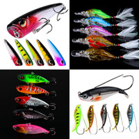 Mixed 5 Color 3. 8- 21. 2g Plastic Hard Baits & Lures 10 8 6 4#...
