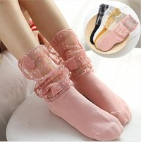 Çocuklar Çorap Kız Dantel Diz Yüksek Çorap Güzel Mesh Prenses Çoraplar Bebek Patchwork Günlük çorap Yaz Moda Tozluklar AYP650