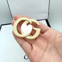 New Arrival Letter G Brooch Gold Women Letter Brooch Suit La...