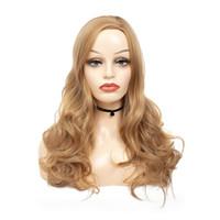 Shuowen Sentetik Peruk Sarışın Uzun Dalgalı Dalga Tam Simülasyon İnsan Saç Yumuşak Peruk Kadınlar Için WW1-09 #