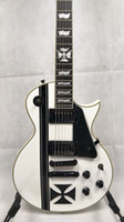 Iron cross white guitar import pickups snow white electric g...
