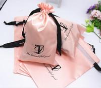 высокое качество человеческих волос veave упаковка сумка маленькая атласная сумка на шнуровке ювелирные изделия на заказ атласная сумка для парика