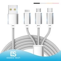 3 in 1 cable 1. 2M USB Charging Cable Micro usb type- c cable ...