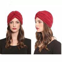 мусульманская чалма для женщин хлопка turbante Mujer химио шляпу Индия платок капот тюрбан крышка фам Musulman исламского turbantes шляпе