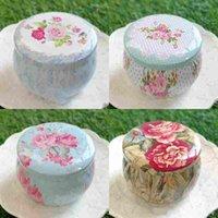 Taşınabilir Davul şekilli teneke kutular çiçek çay konteyner kutular için parti hediyeler paketi 100 adet lot toptan ücretsiz kargo