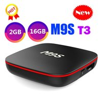 M9S T3 Allwinner H3 2 Go 16 Go Android 7.1 TV BOX Quad Core Ultra HD H.265 4K Stream Media Player Meilleur Amlogic S905W MXQ PRO TX3 X96 TX6
