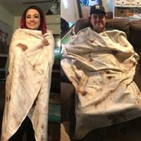 Meksika Tortilla Kapşonlu battaniye Hood ile Yumuşak Sıcak Çocuk Battaniye Sherpa Polar Snuggle giyilebilir atmak Çocuklar için Battaniye 130 cm * 150 cm