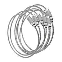 100pcs Edc alambre de llave externo de acero inoxidable llavero del anillo de seguro Gadget cuerda del círculo etiqueta del cable del tornillo del lazo de Camp de equipaje