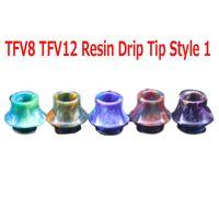 (in stock) 9 Stili 810 Puntali a goccia conica Forma conica Resina Snake Skin Bocchino per TFV8 TFV12 TFV12 Prince TFV8 Big Baby Tank