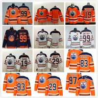 Edmonton Oilers 97 Connor McDavid Jersey 99 Wayne Gretzky 29 Leon Draiseaitl 93 Ryan Nugent-Hopkins الهوكي الفانيلة