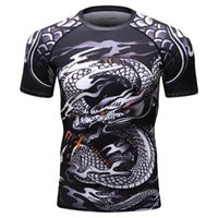 2018 Новый Bjj Rashguard Футболка мужская компрессионная рубашка Mma Fitness Muscle Ufc Бой Топ Муай Тай Джиу-джитсу Tight Fightwear SH190827