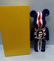 400% 28 cm La bandera británica Película Beebrick Bearbrick Bear Figuras Toy para coleccionistas Be @ Rbrick Art Work Trabajar Modelo Decoración Juguetes Regalo