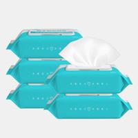 Hot 50pcs / set portable Désinfection Antiseptique Tapis alcool Bâtonnets de nettoyage Lingettes humides Soins de la peau stérilisation Premiers soins Nettoyage Tissue Box