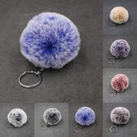 Kimter Key Chain Holder Faux Rabbit Fur Ball Keychains Car Bag Charm Pendant Fluffy Pompom Keyrings Fashion Accessories B554F