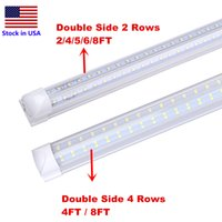 LED Tube 8FT V Shaped 4 pés tubo 8Feet T8 Integrado refrigerador de porta lados dobro 4 linhas 120W LED luz fluorescente Tubo