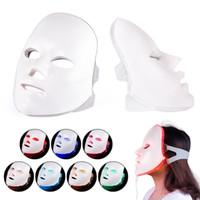 건강 아름다움 7 색상의 조명을 주도 광자 PDT 얼굴 가면 얼굴 피부 회춘 치료 장치 휴대용 가정용
