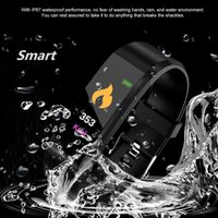 115 Plus Bluetooth Smart Watch Heart Rate Fitness Tracker Blood Pressure Wristwatch Waterproof Sports Smart Bracelet For Android iPhone