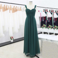 New Women Pleated Bridesmaid Dresses Elegant Two Straps High...