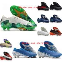 2020 erkek futbol ayakkabıları Mercurial Buharlar 13 Elite AG CR7 futbol krampon ucuz Superfly 7 Elite SE AG krampon Ronaldo Neymar hotsale
