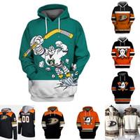 Anaheim Ducks Hoodie Jersey Homem 15 Ryan Getzlaf 7 Andrew Cogliano 17 Ryan Kesler 30 Ryan Miller 33 Camisolas de Hóquei Jakob Silfverberg
