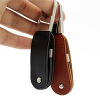 Изготовленный на заказ кожаный USB флэш-накопитель 32gb металлический брелок Pendrive Creativo кожаный USB-диск 1/2/4/8/16/32/64 / 128GB прекрасный подарок Menory Disk 16G