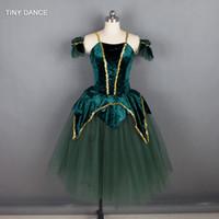 Scena nosić projekt dziecka dorosły romantyczny taniec baletowy tutus zielony / biały kolor długich Tutu balerina sukienka performance 13136