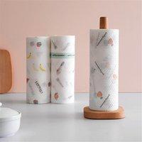 Einweg-Küchen duster Tuch waschbar Reinigungstuch Vliesstoffe waschen das Geschirr auf den Tisch Stoff Faulen Rag Druck Cartoon Wipe 0041