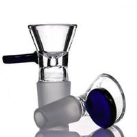 Аксессуары для курения 14 мм 18 мм мужские чаши с ручкой круглые синие зеленые стеклянные чаши для травы табачных бонги нефтяные буровые установки