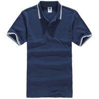 Camisa polo de manga corta en color de contraste. Camisa slim fit de algodón. Camisa casual de polo de oficina. Talla grande. Ropa de marca.