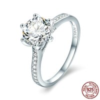 New arrival Chic 925 Sterling Silver Ring Big Cubic Zirconia...