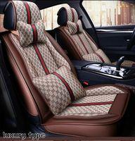 2021Seat Sedan SUV için Kapakları Dayanıklı Deri Ayarlanabilir Beş Koltuklar Yastık Paspaslar Kadınlar için Çok Moda Tasarım